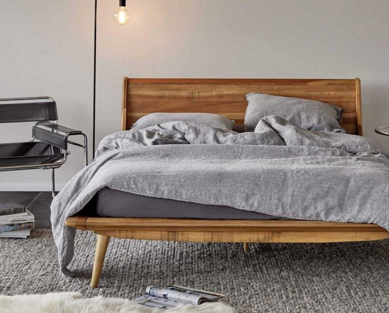 Modern Furniture Platform Bed with Memory Foam Mattress